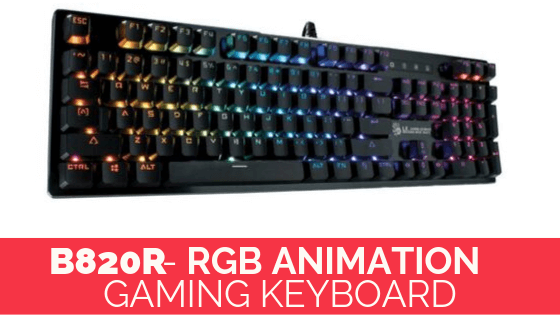 B820R- RGB Animation Gaming Keyboard in pakistan