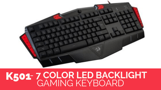Redragon K501- 7 Color LED Backlight keyboard in pakistan